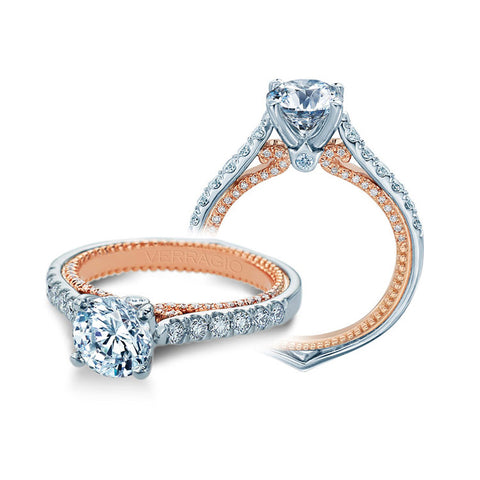 Verragio 18K White & Rose Gold Engagement Ring COUTURE-0445-2WR