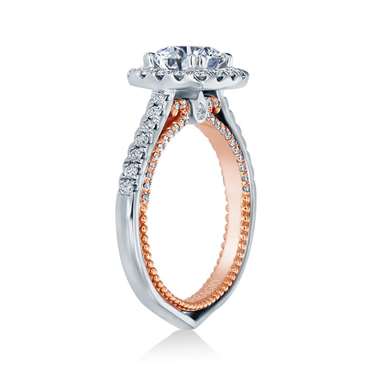 Verragio Cushion Halo Round Diamond Center Engagement Ring COUTURE-0449CU-2WR