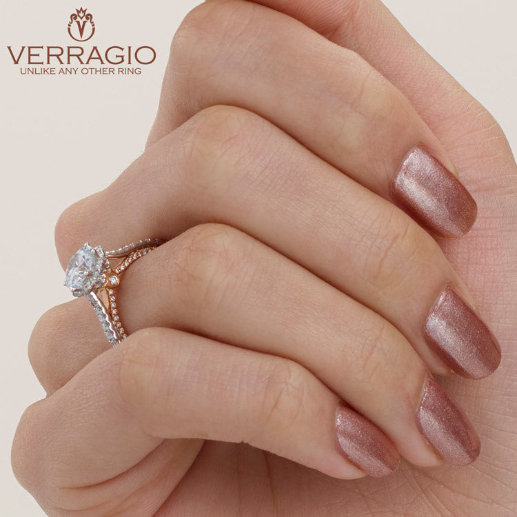 Verragio Round Diamond Center Engagement Ring COUTURE-0458RD-2WR
