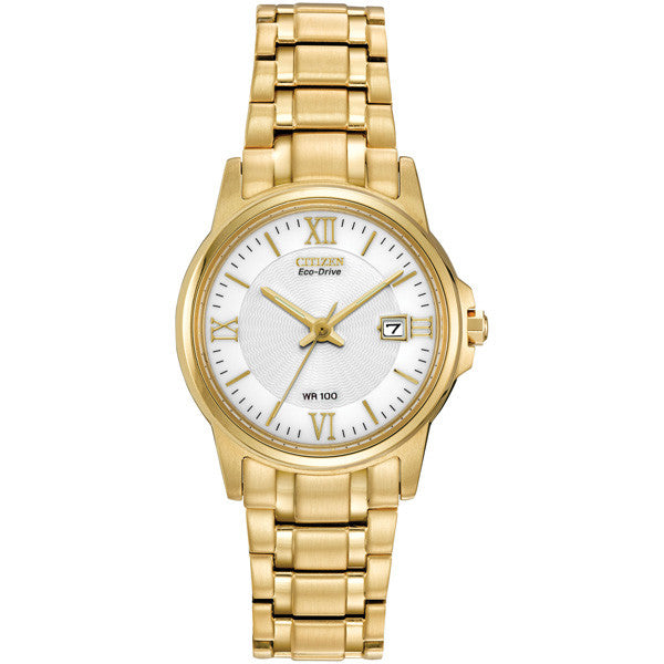 Citizen Ladies' Bracelet Yellow Gold-tone Watch EW1912-51A