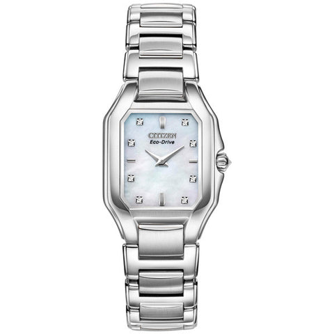 Citizen Fiore Mother-of-Pearl Diamond Ladies Watch EX1190-58D
