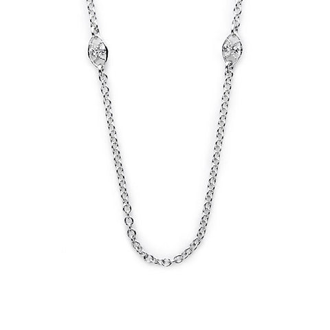 Tacori 18K White Gold Diamond Half Moon Crescent Chain FC100-18