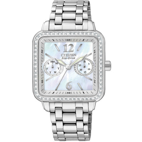 Citizen Silhouette Women's Mother of Pearl Diamond Watch FD1040-52D