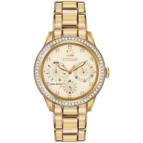 Citizen Silhouette Crystal Gold-tone Diamond Women's Watch FD2012-52P