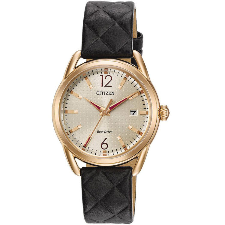 Citizen LTR Eco-Drive Leather Strap Women's Watch FE6083-13P