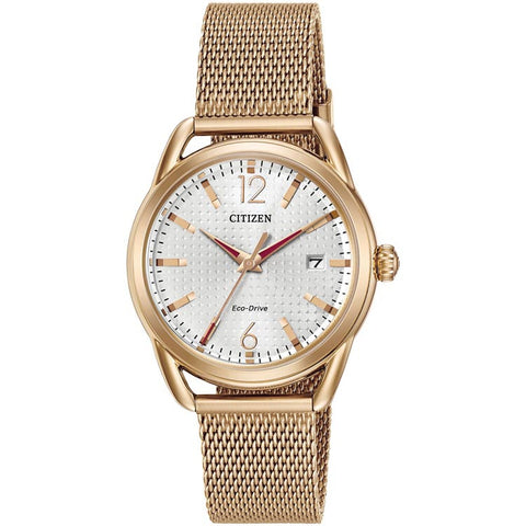 Citizen LTR Rose Gold-tone Eco-Drive Women's Watch FE6083-72A