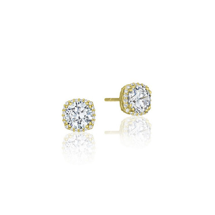 Tacori Encore 18K Yellow Gold Diamond Stud Earrings FE64365Y