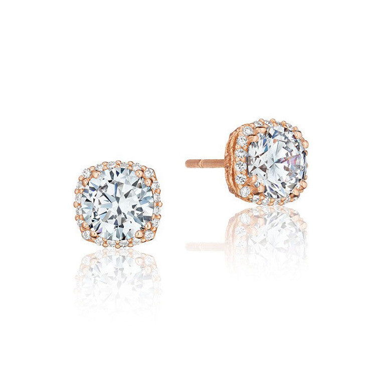 Tacori 18K Rose Gold Diamond Stud Earrings FE6436PK