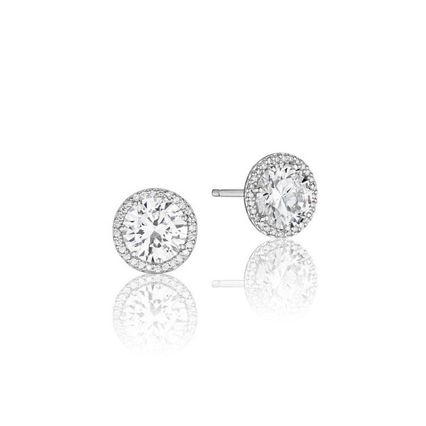 Tacori Encore 18K White Gold Diamond Stud Earrings FE6706