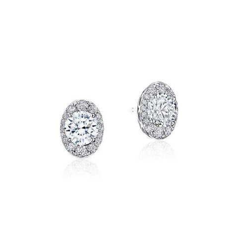 Tacori Oval Bloom Diamond Earring FE811RDOV65