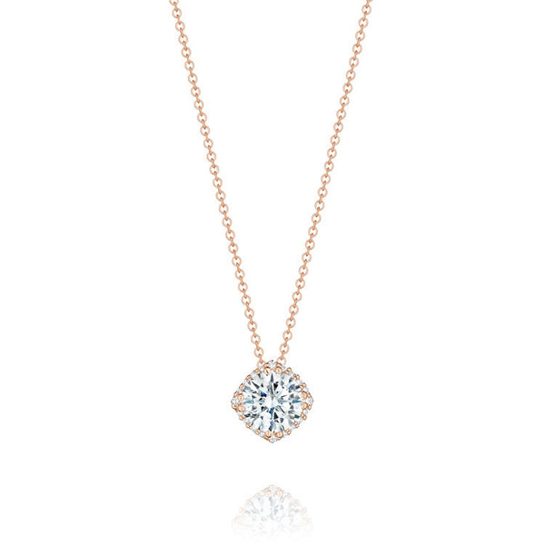Tacori Encore 18K Rose Gold Diamond Pendant FP64365PK