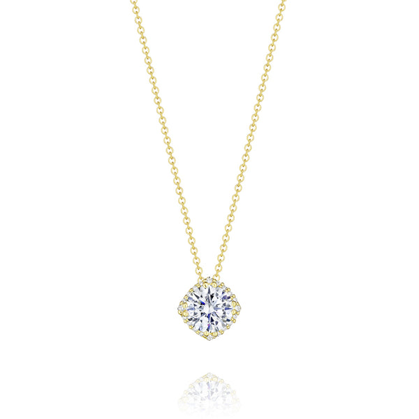 "Tacori 18K Yellow Gold 18"" Diamond Pendant Necklace FP64365Y"