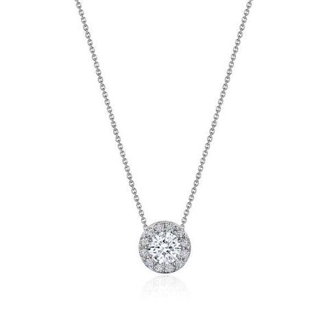 "Tacori 17"" Single Bloom Diamond Necklace FP809RD65"