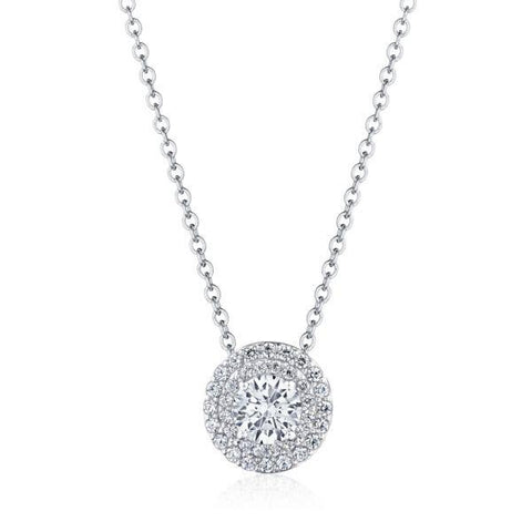 "Tacori 17"" Double Bloom Diamond Necklace FP810RD65"