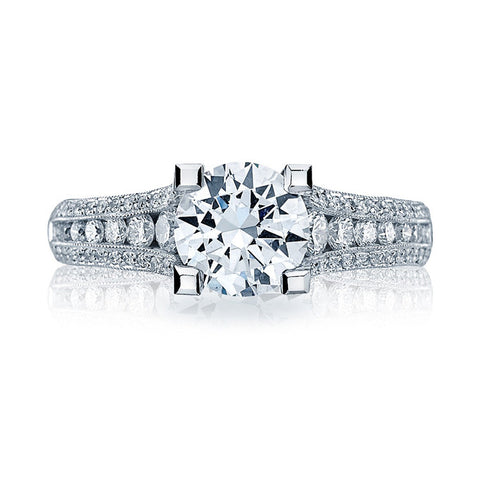 Tacori Platinum Round Center Diamond Engagement Ring HT2513RD651/2X