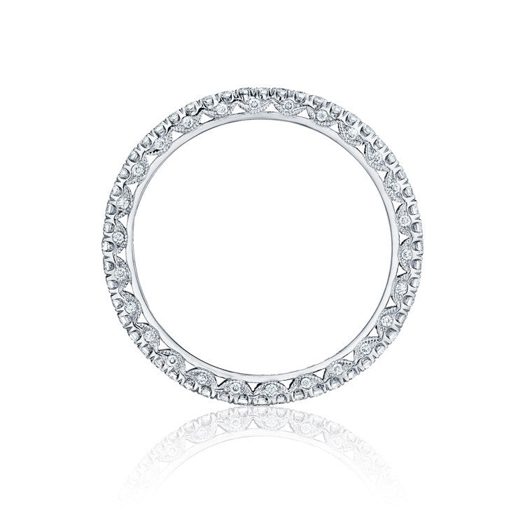 Tacori Petite Crescent Platinum Eternity Band HT254515B