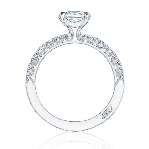 Tacori Petite Crescent 18K White Gold Engagement Ring HT254515PR5W