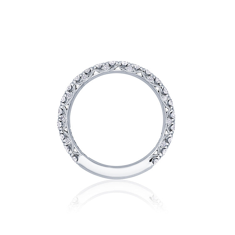 Tacori Petite Crescent Platinum 3/4 Way Diamond Band HT254525B34