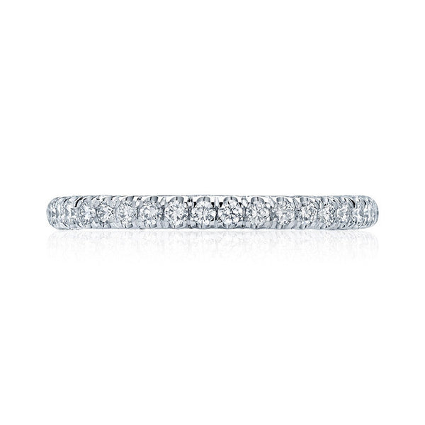 Tacori Petite Crescent 1/2 Way Platinum Diamond Wedding Band HT2545B12