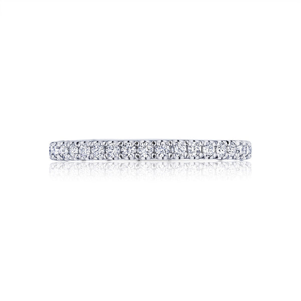 Tacori Petite Crescent 18K White Gold 3/4 Way Diamond Wedding Band HT2545B34W