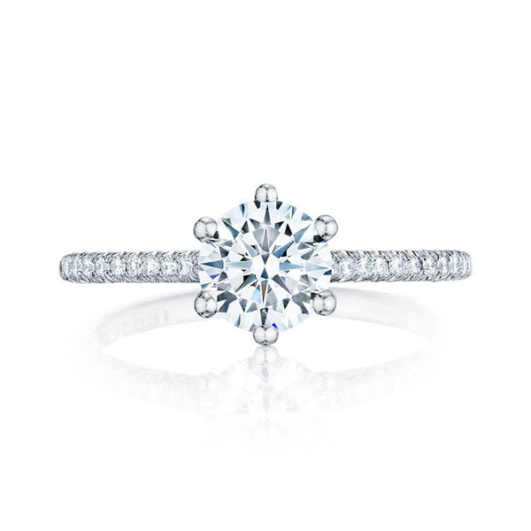 Tacori 18K White Gold Six-prongs Diamond Engagement Ring HT254615RD65W