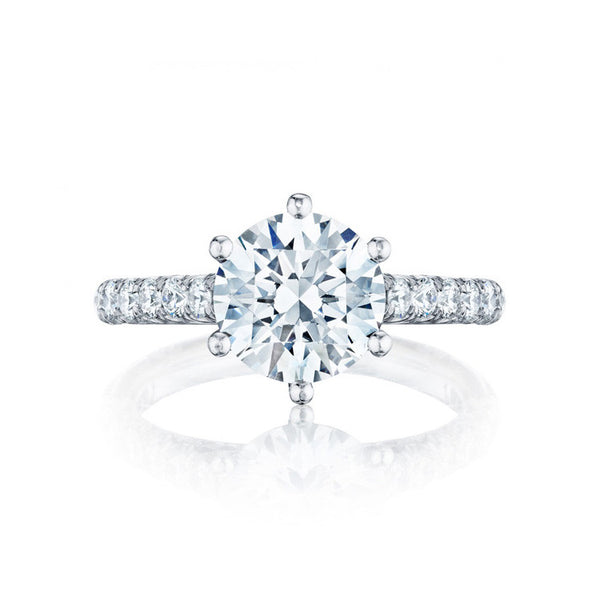 Tacori Platinum Six-pronged Diamond Engagement Ring HT254625RD8