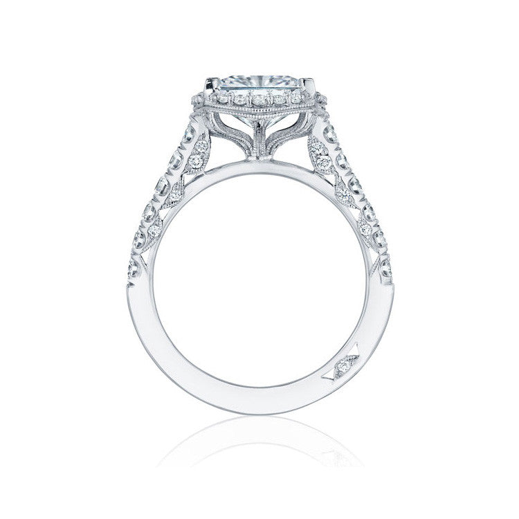 Tacori Platinum Princess Cut Halo Diamond Engagement Ring HT254725PR75