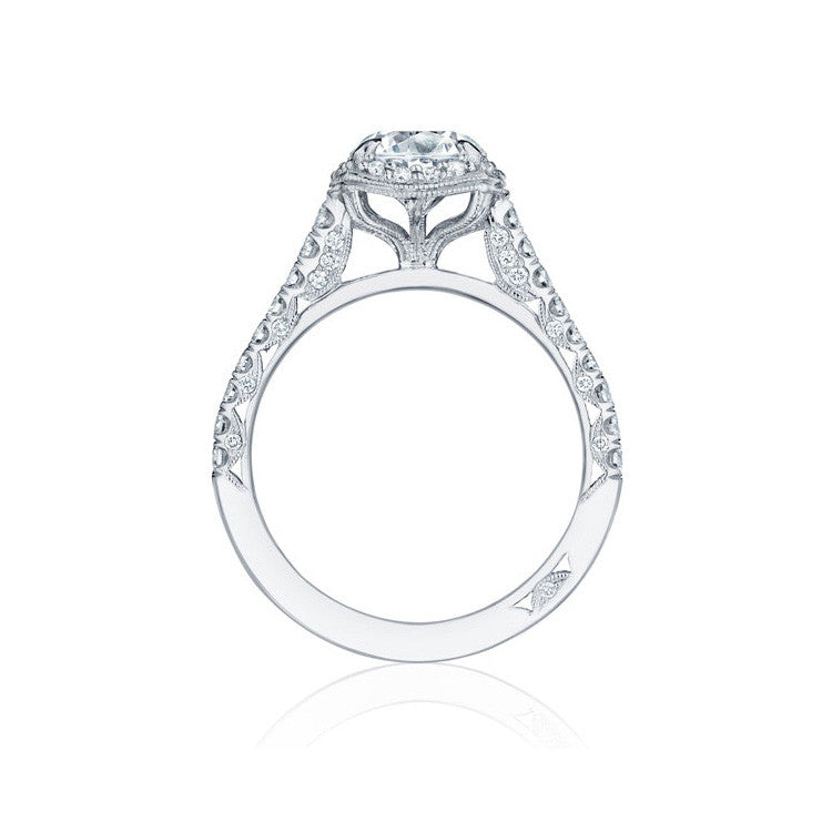 Tacori Petite Crescent Platinum Diamond Engagement Ring HT2547CU7