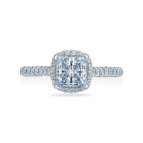 Tacori Double Bloom Princess Cut Center Halo Engagement Ring HT2547PR55