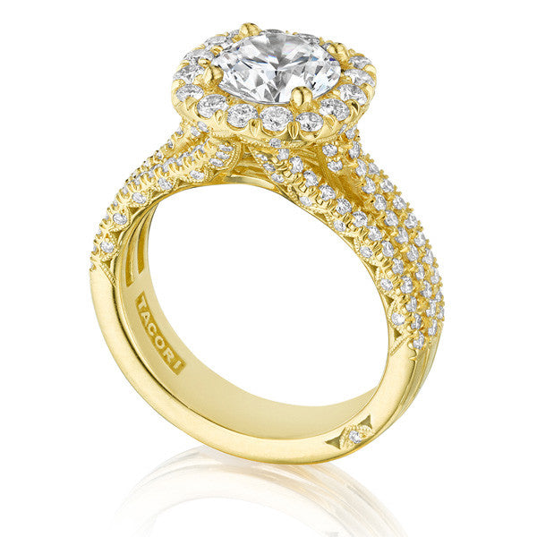 Tacori Petite Crescent 18K Yellow Gold Engagement Ring HT2551CU75Y