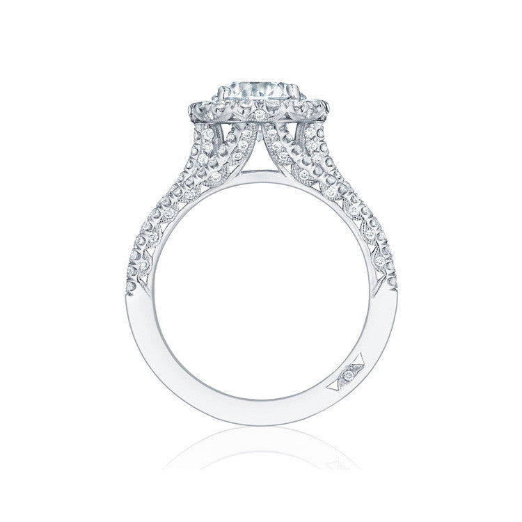 Tacori Petite Crescent Platinum Diamond Engagement Ring HT2551RD7
