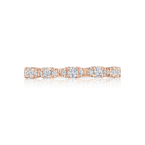 Tacori 18K Rose Gold 3/4 Way Marquise Shape Diamond Band HT2558B34PK