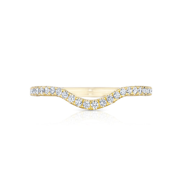 "Tacori 18K Yellow Gold ""RIGHT"" Curved Diamond Wedding Band HT2561B12YR"