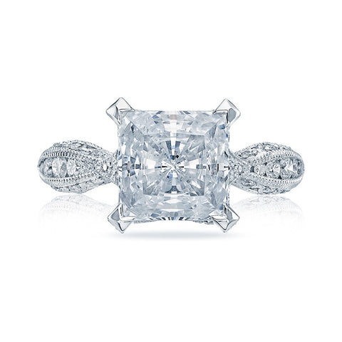 Tacori RoyalT Platinum 3/4 Way Diamond Engagement Ring HT2602PR85