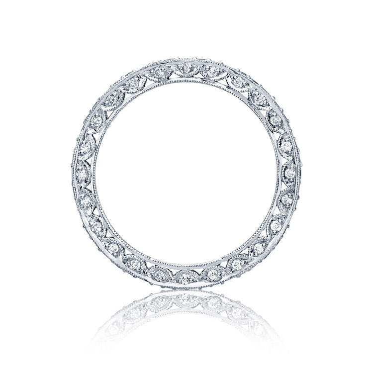 Tacori RoyalT Platinum Marquise Shaped Eternity Wedding Band HT2604B