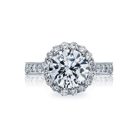 Tacori RoyalT Platinum 3/4 Way Diamond Engagement Ring HT2605RD95