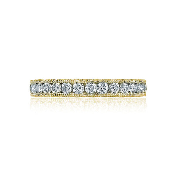 Tacori RoyalT 18K Yellow Gold 3/4 Way Ladies Diamond Band HT2607B34Y