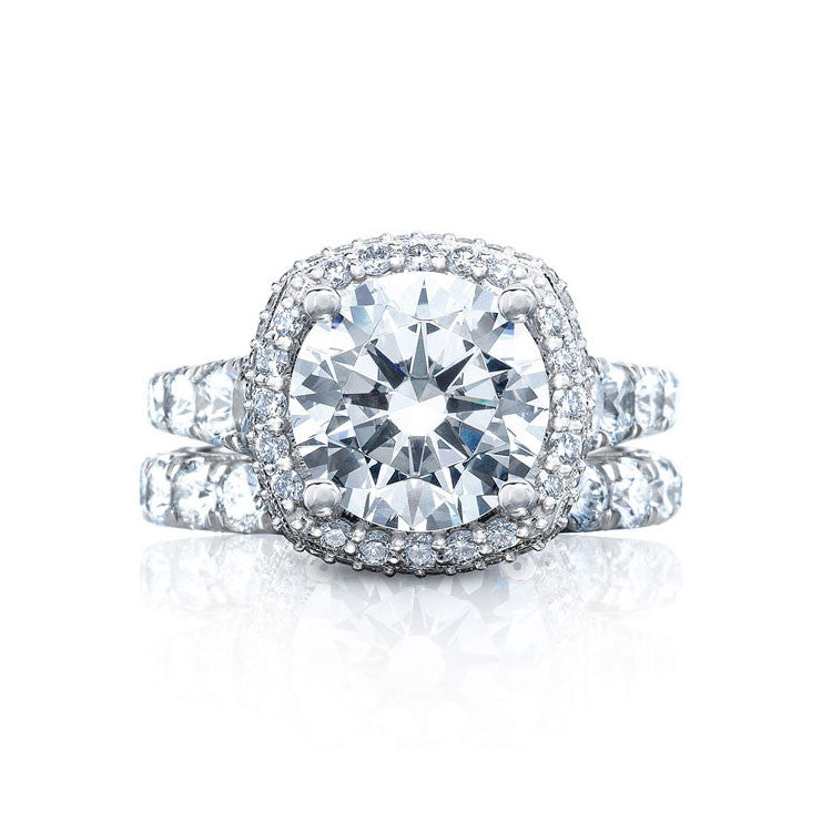 Tacori RoyalT Platinum 3/4 Way Diamond Engagement Ring HT2624CU8