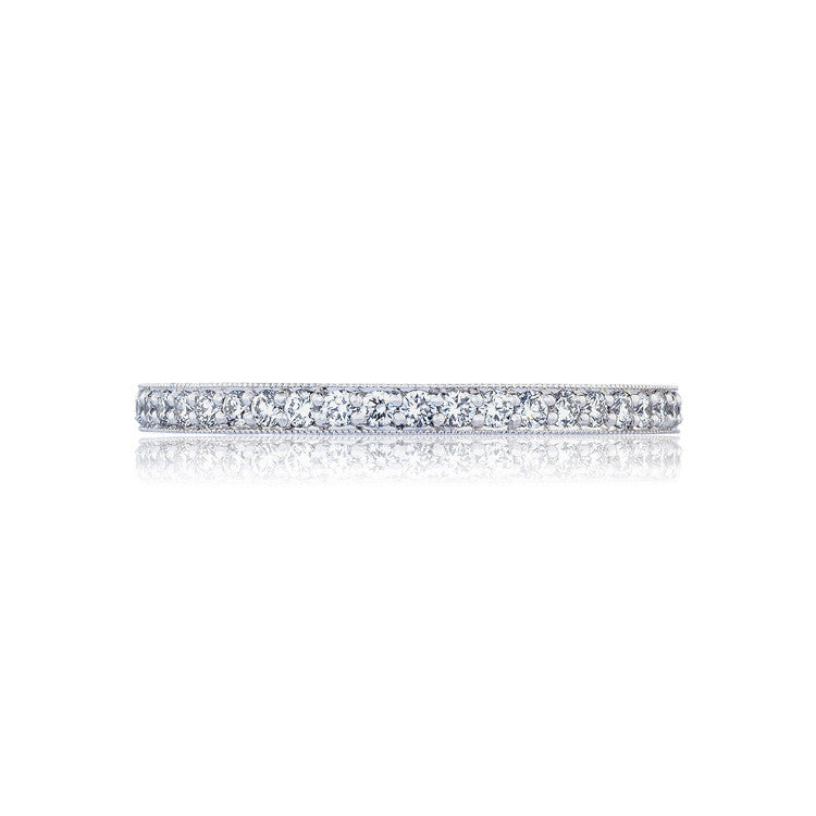 Tacori RoyalT Platinum 3/4 Way Pave Diamond Wedding Band HT2627B34