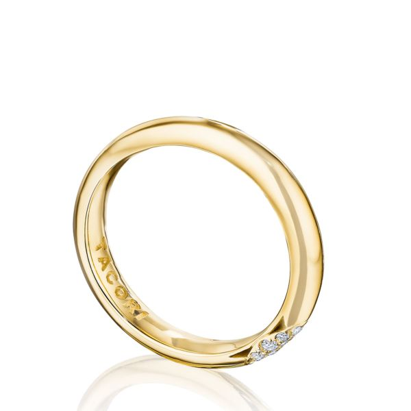 Tacori RoyalT 18K Yellow Gold Women's Wedding Band HT2671BY