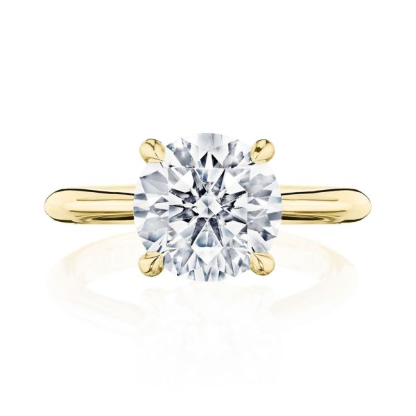 Tacori RoyalT 18K Yellow Gold Solitaire Diamond Engagement Ring HT2671RD8Y