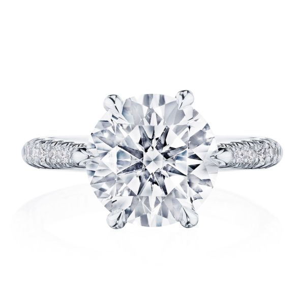 Tacori RoyalT Platinum Four-Prong Round Solitaire Engagement Ring HT2675RD9