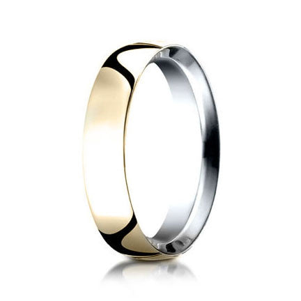 Benchmark 14k Yellow Gold and Argentium Silver Wedding Band IBCF15514KYSV