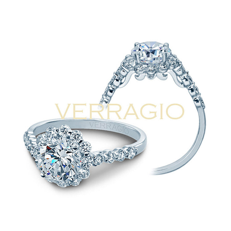 Verragio Halo Round Center Diamond Engagement Ring INSIGNIA-7033S