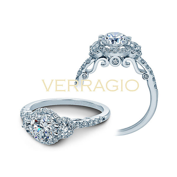 Verragio 18K White Gold Diamond Engagement Ring Insignia-7049D