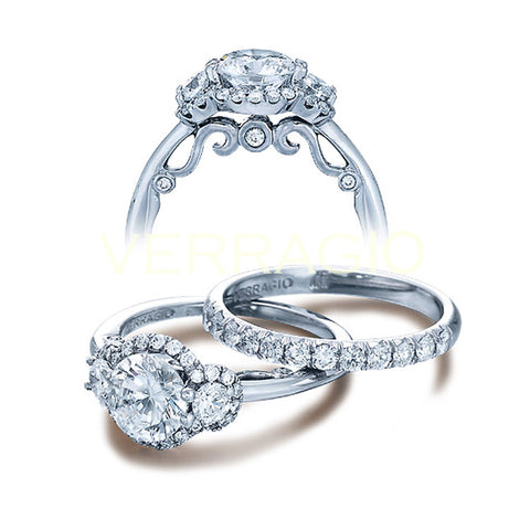 Verragio 18K White Gold Diamond Engagement Ring Insignia-7049