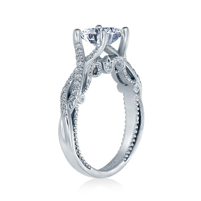 Verragio Princess Center Pave-set Twisted Band Engagement Ring INSIGNIA-7060