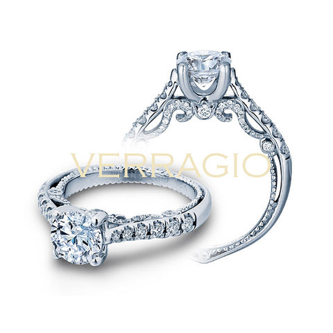 Verragio 18K White Gold Prong-Set Diamond Engagement Ring INSIGNIA-7066R