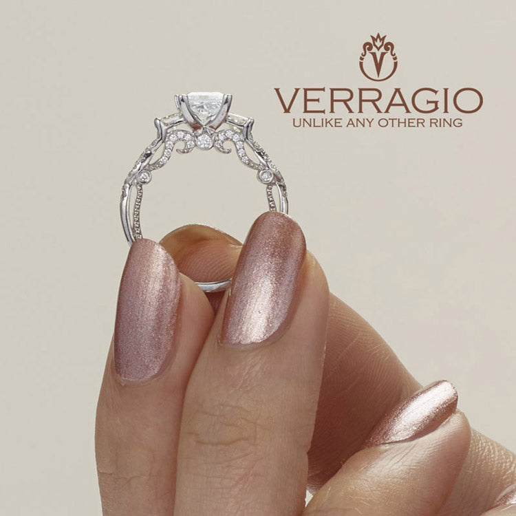 Verragio 18K White Gold Princess Center Engagement Ring INSIGNIA-7074P