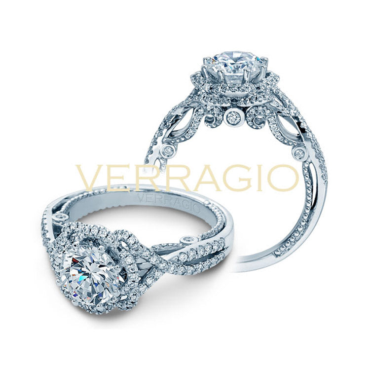 Verragio 18K White Gold Twisted Diamond Engagement Ring INSIGNIA-7087R